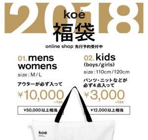 koeの福袋を公開2019-3-4
