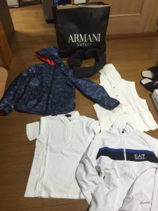 アルマーニの福袋の中身2016-7-1