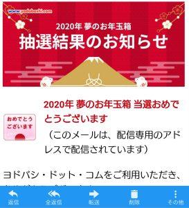 ヨドバシカメラの福袋の中身2020-9-1